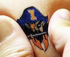 Electronic circuit temporary tattoo