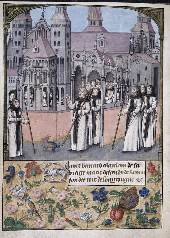 St Bernard with monks of Citeaux