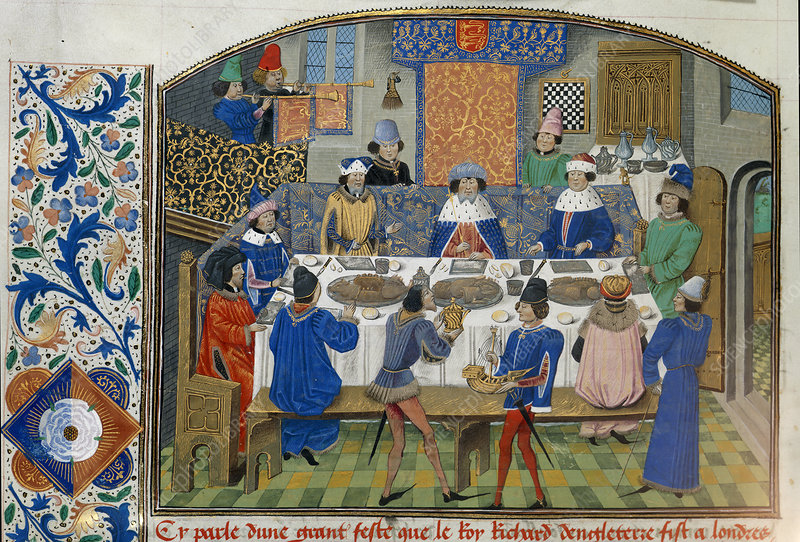 Richard II dines with dukes