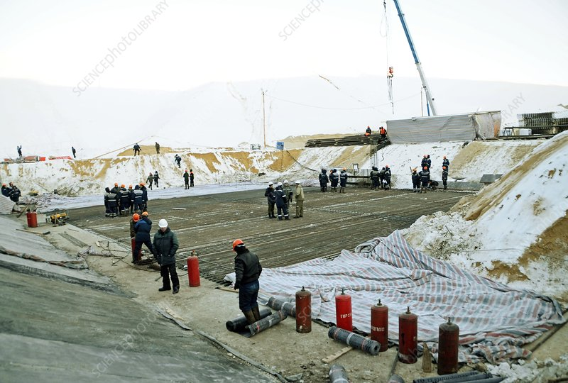 Construction of Vostochny space centre