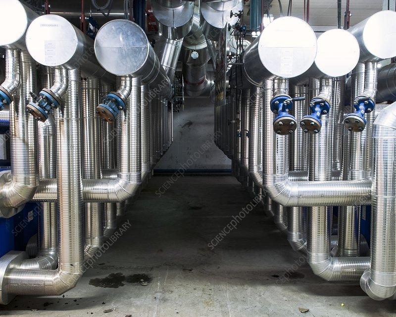 Waste incineration plant machinery