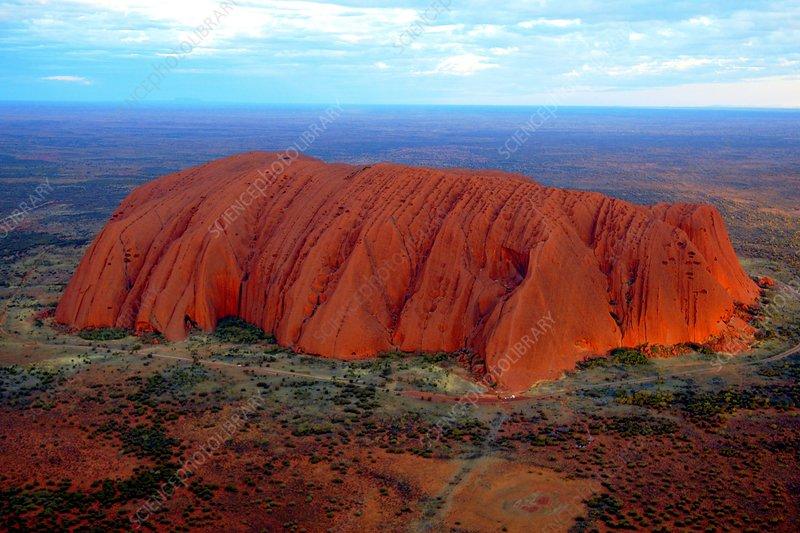 uluru  ayers rock  at sunset  australia