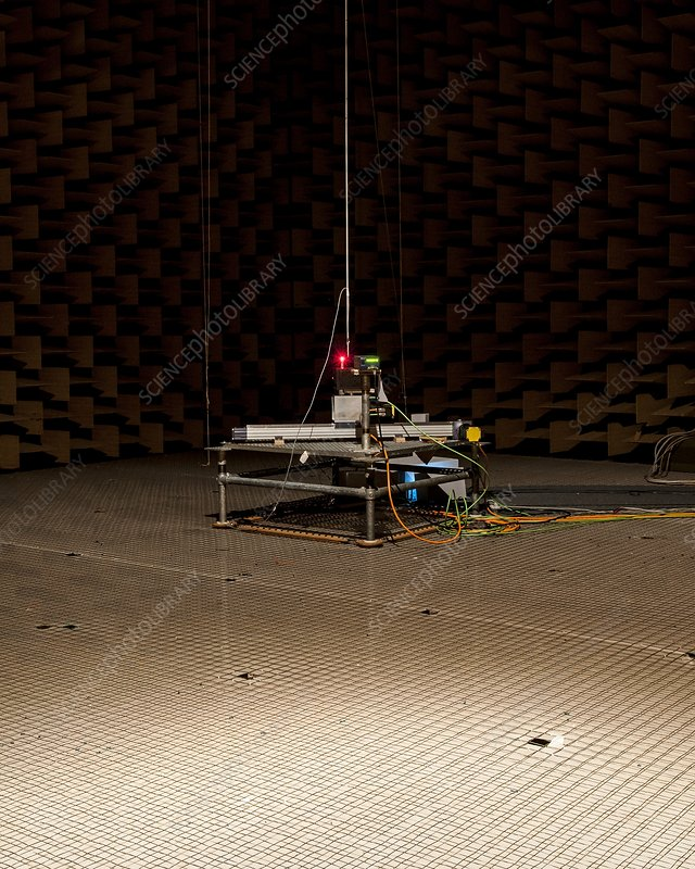 Anechoic chamber, acoustics research