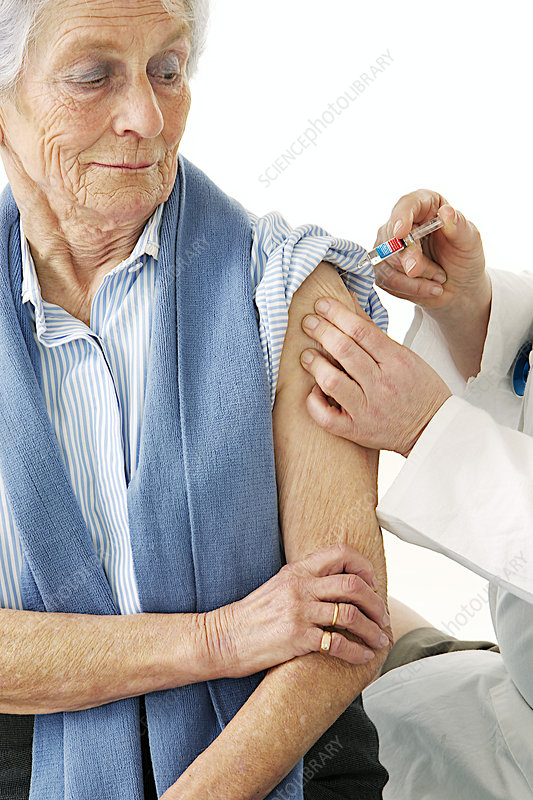 Vaccinating An Elderly Person