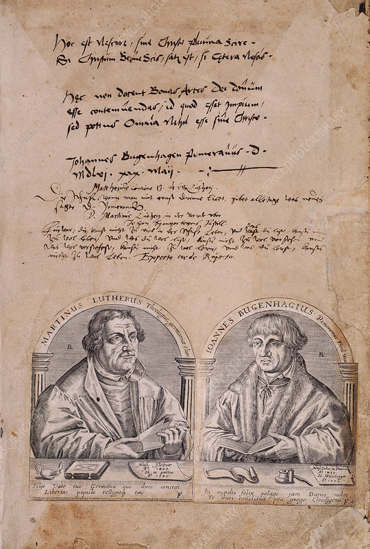 Martin Luther and J. Bugenhagius