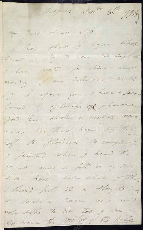 Letter of Lady Hamilton