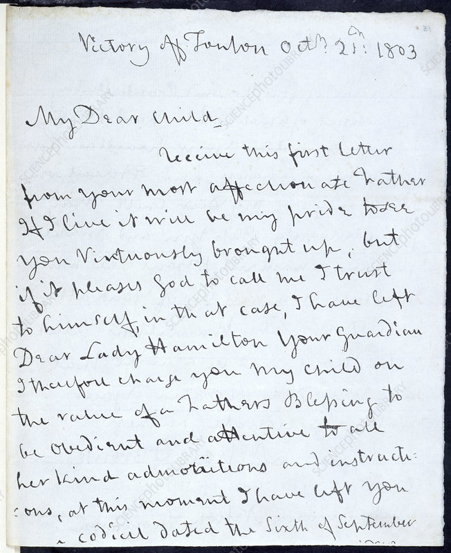 Letter of Lord Nelson
