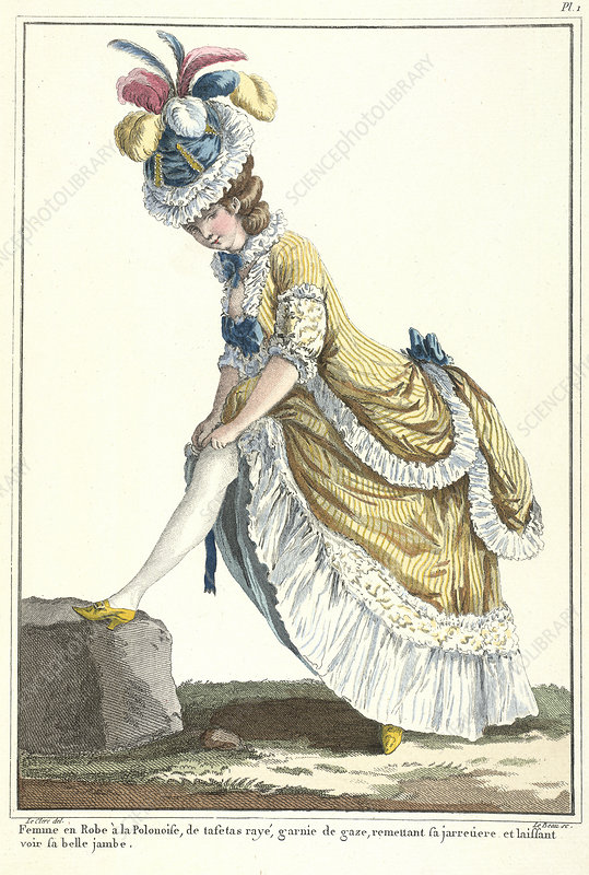 Lady in a Polish-style dress