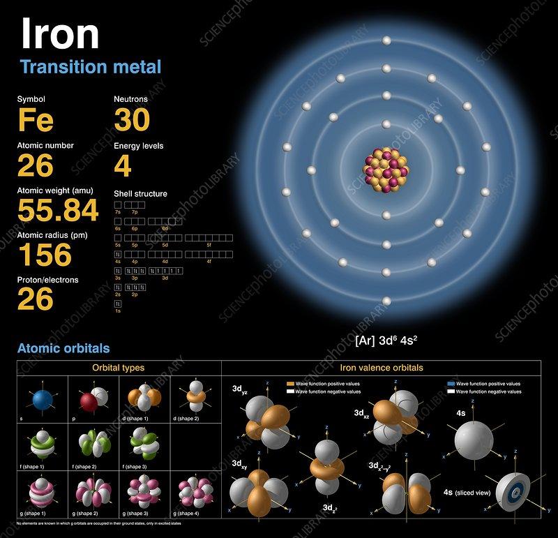 block diagram calculator iron  atomic structure stock image c018 3707 science  iron  atomic structure stock image c018 3707 science