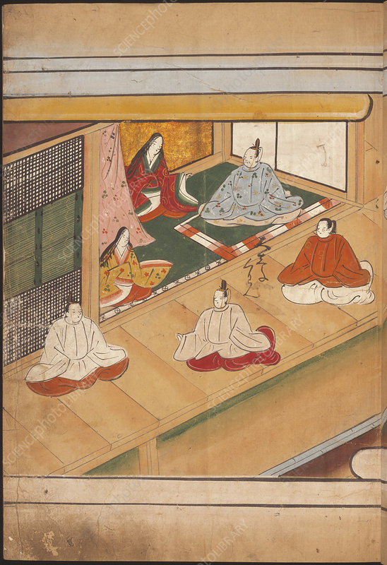 Seated Japanese nobles