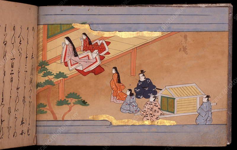 Japanese ladies and a palanquin