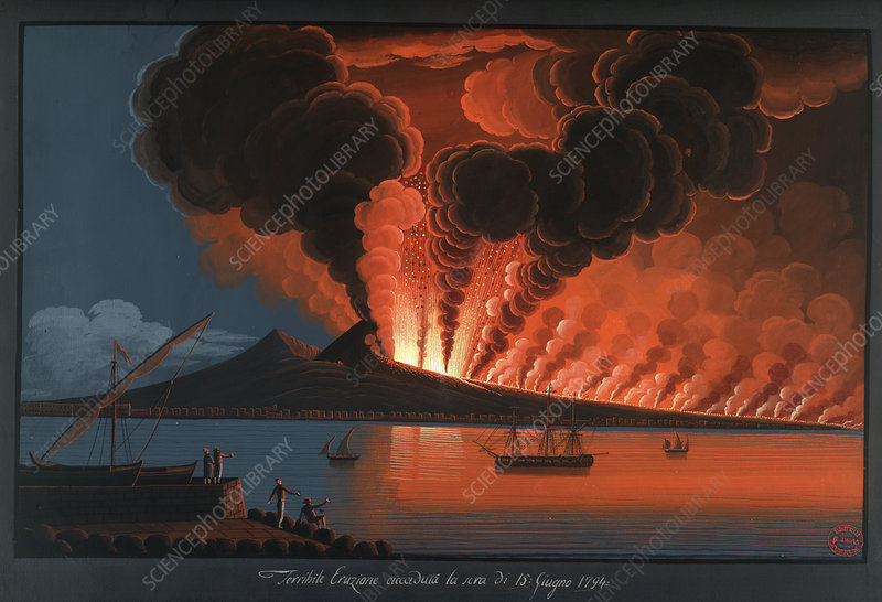 Mt. Vesuvius' terrible eruption