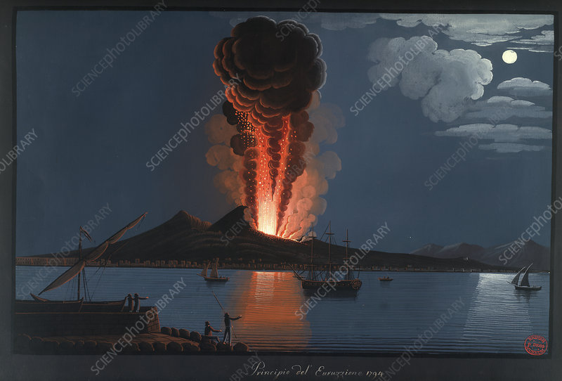 Eruption of Mt. Vesuvius, 1794