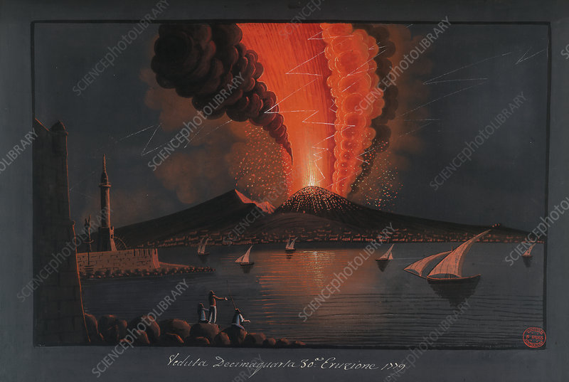 Eruption of Mt. Vesuvius, 1779