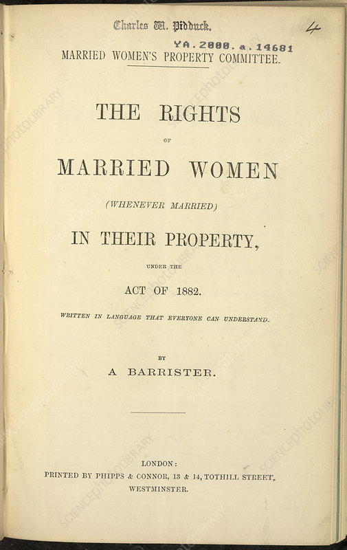 Married Women's Property Committee Report