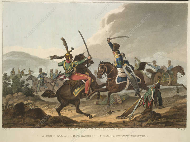 Cavalry fighting