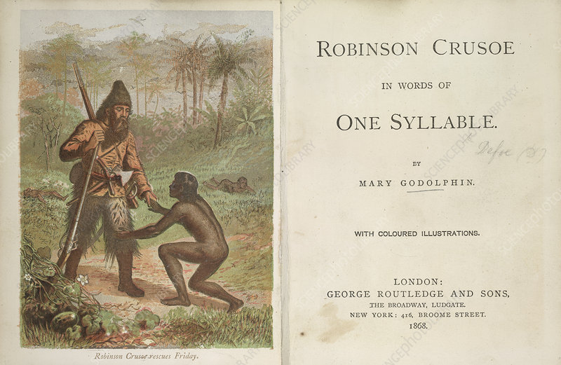 """friday in foe and robinson crusoe english literature essay (defoe, """"robinson crusoe"""" 254) much is the same circumstance that brought about the variations and additions to the english language in which defoe is clamoring for purity (""""an essay upon projects"""" 8)."""