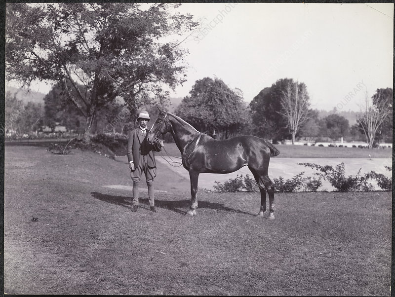 Sir Hugh Barnes with his horse