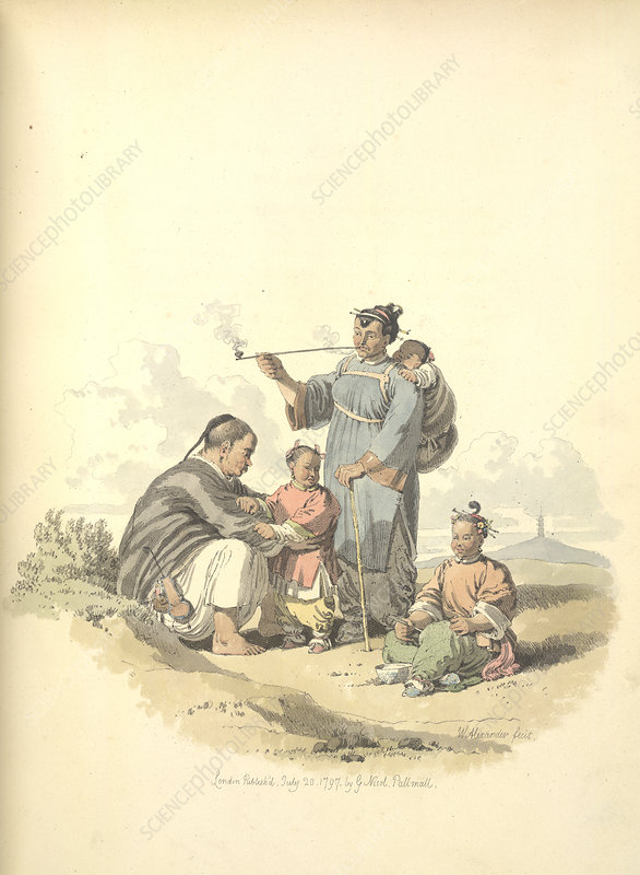 Peasant with family