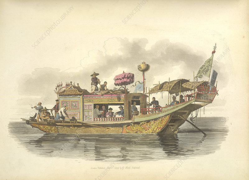 A Mandarin's travelling boat
