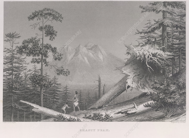Shasty Peak, View of Mount Shasta