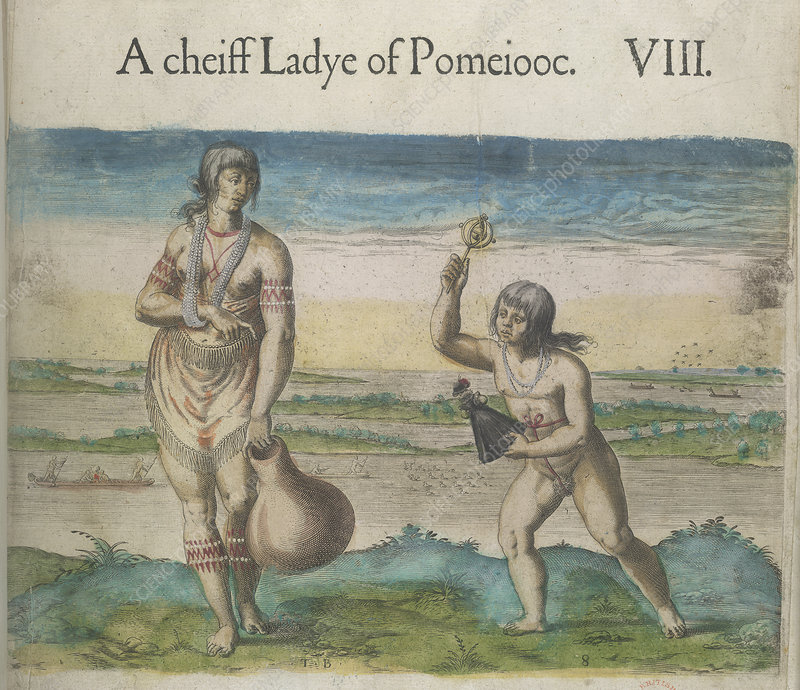 Woman and girl of Pomeiooc