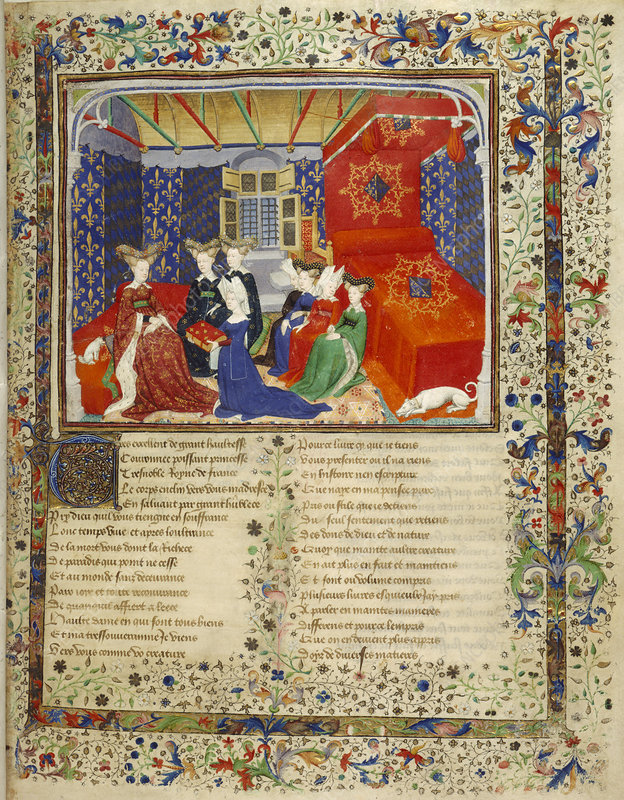 Christine de Pisan with her book