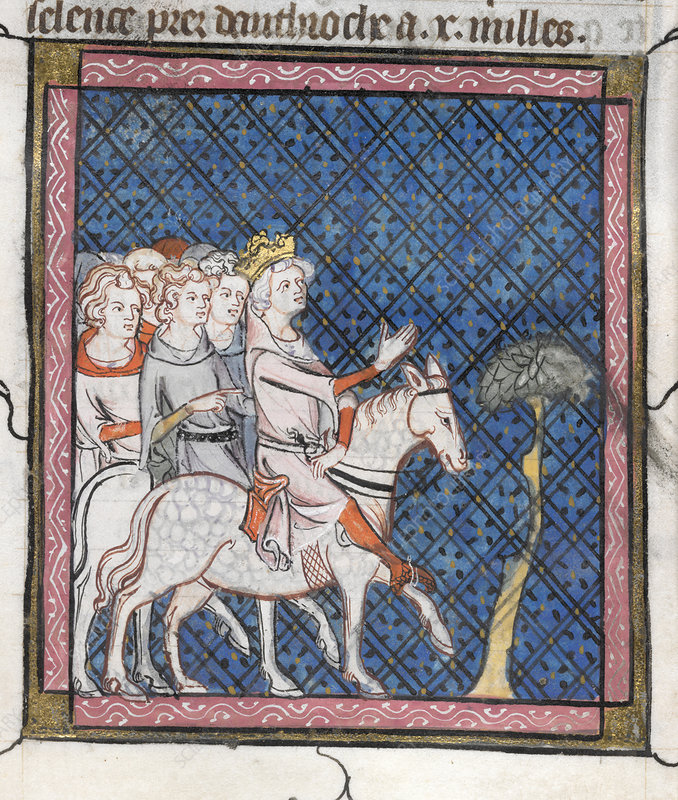 King Louis VII rides to Antioch