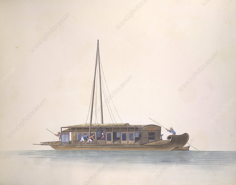 Flat-bottomed boat