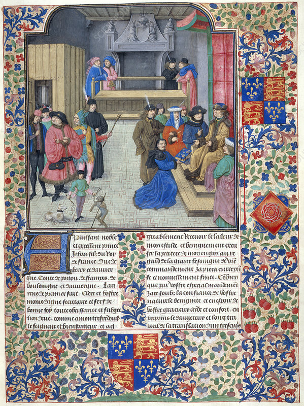 Duc de Berry receives the book