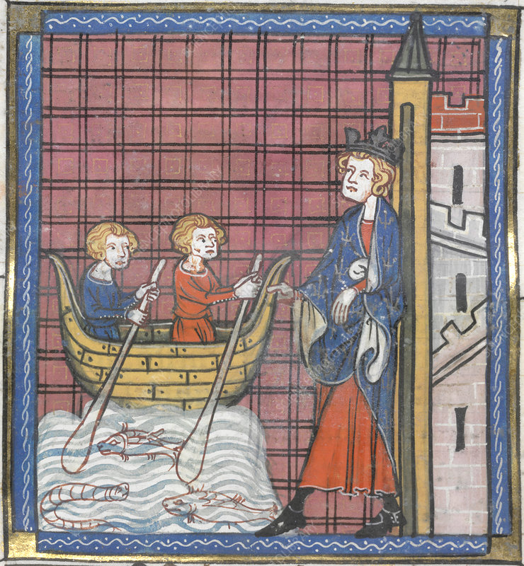 King Louis IX sails for France
