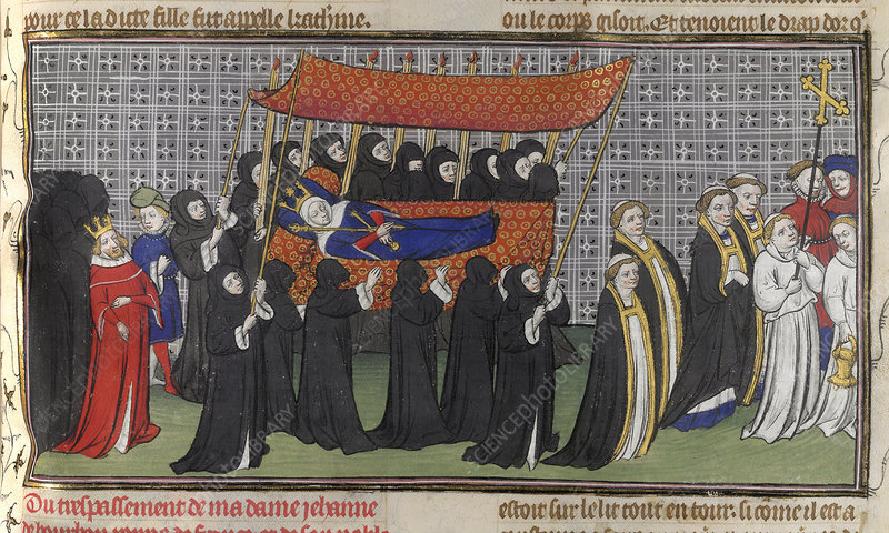 Funeral procession of Queen Jeanne