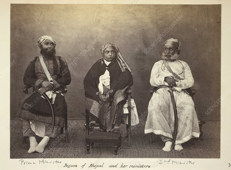 Begum of Bhopal and her Ministers