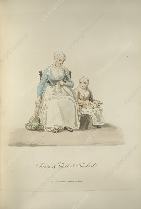 Woman and child of Friesland