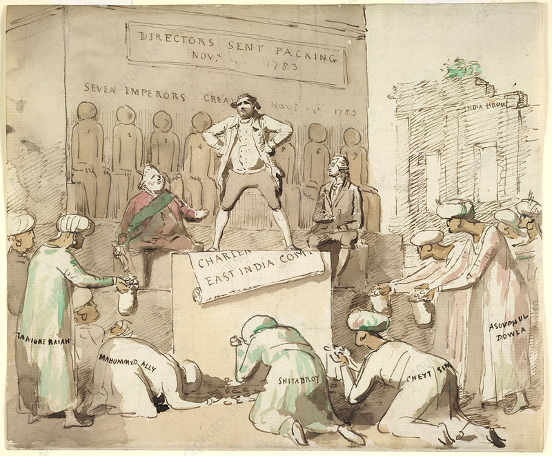 Offering gold to Charles James Fox