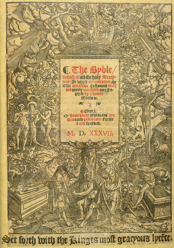 Title page of Matthew's Bible (1537)