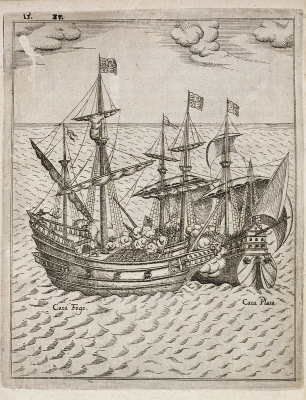 Capture of the the Spanish galleon