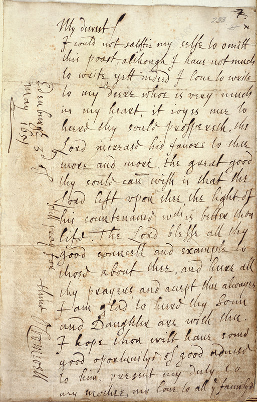 Letter of Oliver Cromwell
