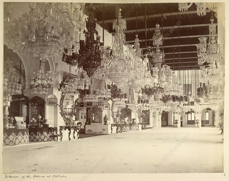 Interior of the Palace at Patiala