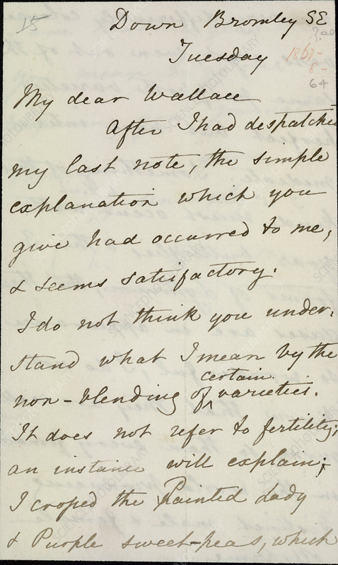 Letter of Charles Darwin
