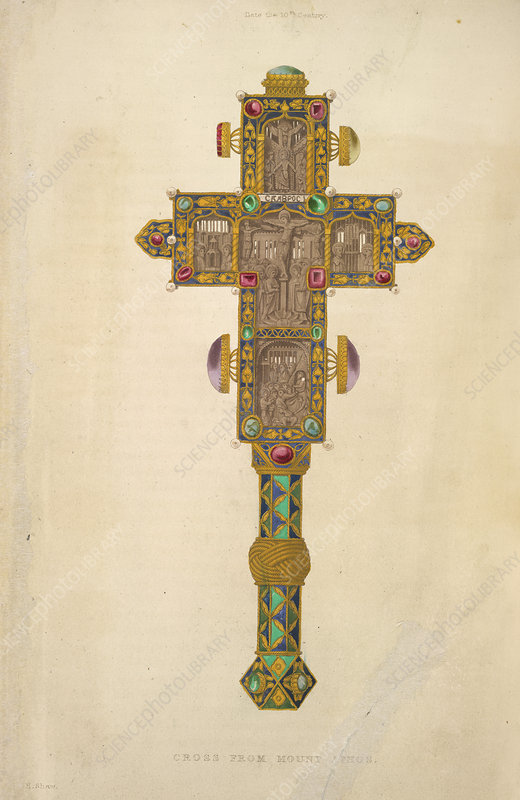 A decorated cross