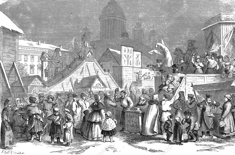 Maslenitsa celebrations, 19th Century
