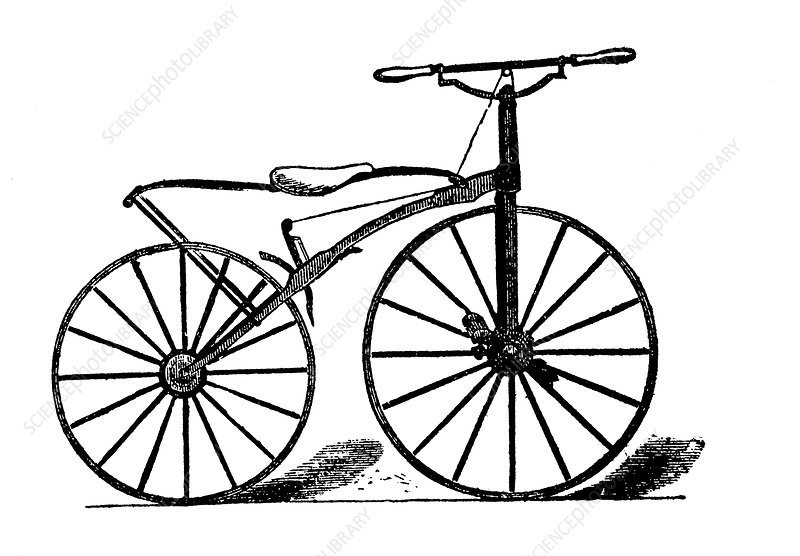 19th Century velocipede, artwork