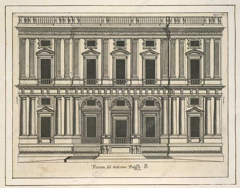 Architectural engraving