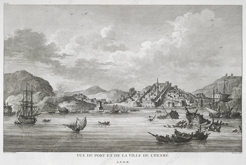 The port and town of Chesme