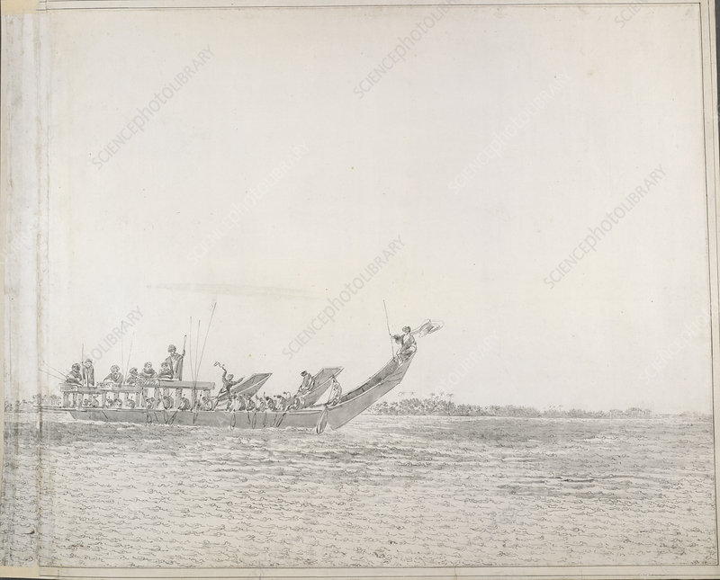 War canoe of Tahiti