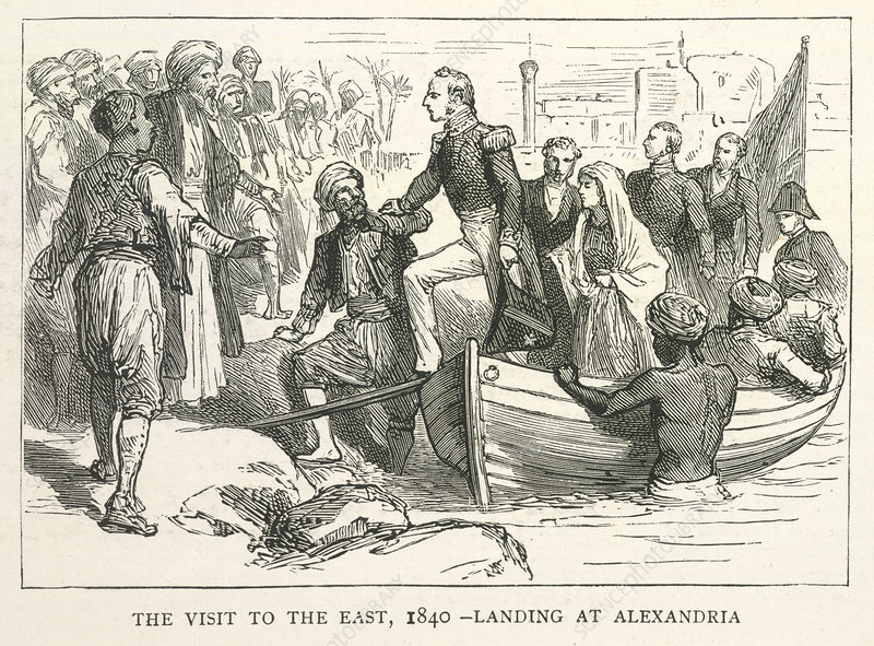 Arriving at Alexandria