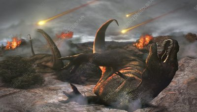 Extinction of the dinosaurs, artwork