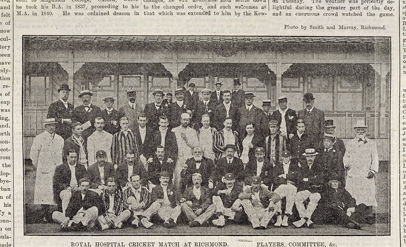 A group of cricketers