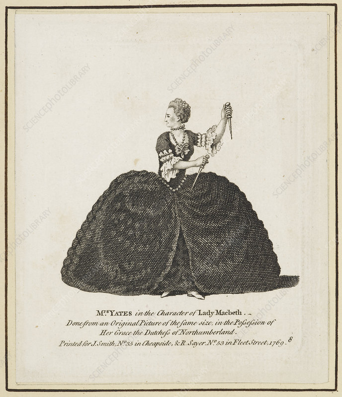 Mrs Yates in the character of Lady Macbet